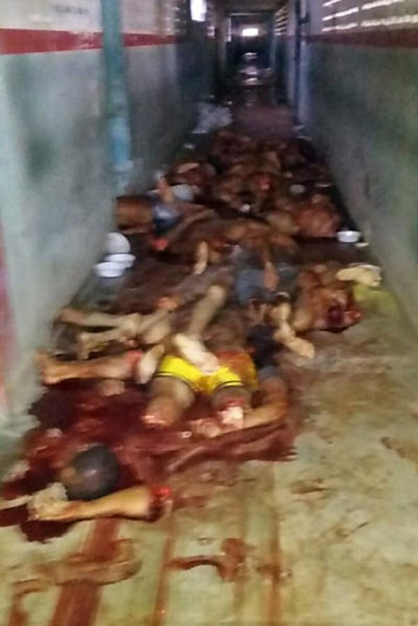 La matanza ocurrió cuatro días después de que 56 reos fueran asesinados en una prisión de Manaos