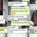 Los chats que la docente le envió al alumno durante 2018