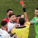 Díaz de Vivar expulsó a Lionel Messi y a Gary Medel