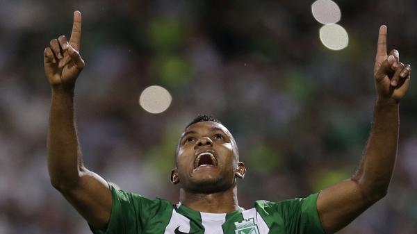 Miguel Borja festeja el único tanto del partido (AP)