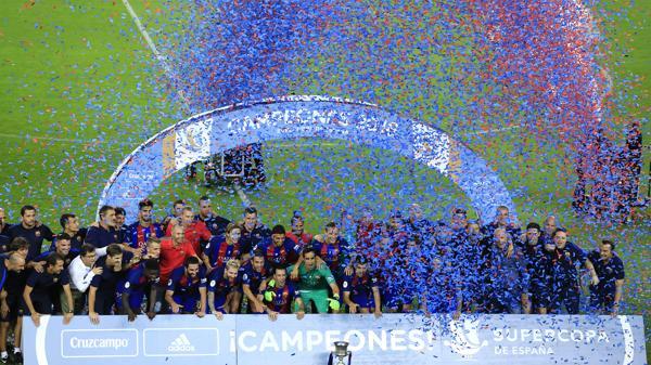 Esta es la Supercopa de España número 12 de la historia del Barcelona (AFP)